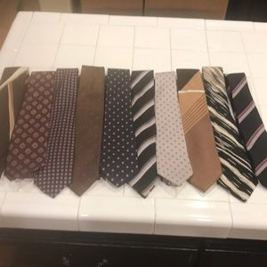 ties 10 vintage 100% silk most made in Italy